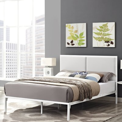 Della Full Upholstered Polyester Platform Bed