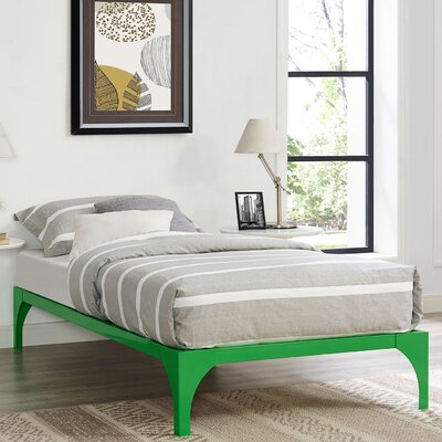 Ollie Bed Frame Size: Twin, Color: Green