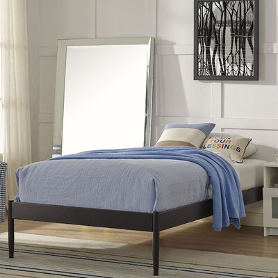 Elsie Bed Frame Color: Brown, Size: Queen