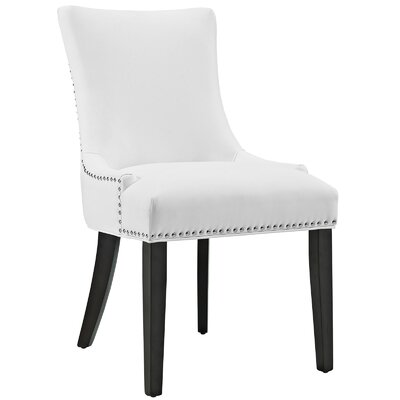 Riyan Vinyl Dining Chair Upholstery: White