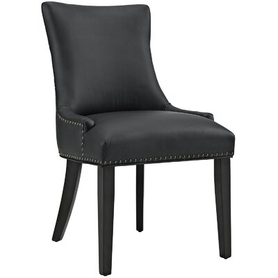 Riyan Vinyl Dining Chair Upholstery: Black