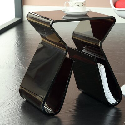 Magazine End Table Color: Black