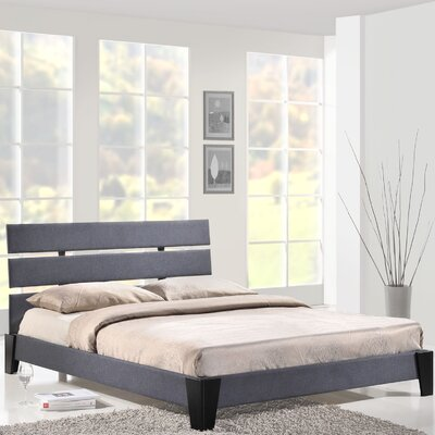 Queen Upholstered Platform Bed Finish: Gray