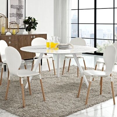 Julien Artificial Marble Dining Table Size: 60 D x 60 W x 29.5 H