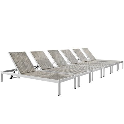 Coline Contemporary Outdoor Patio Single Chaise