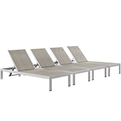 Coline Outdoor Patio Metal Single Chaise