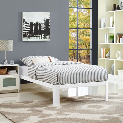 Corinne Bed Frame Finish: White, Size: Twin