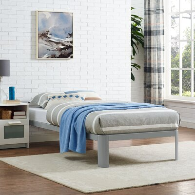 Corinne Bed Frame Size: Twin, Finish: Gray