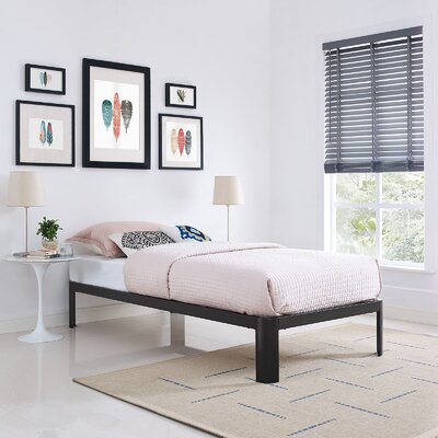 Corinne Bed Frame Size: Twin, Color: Brown