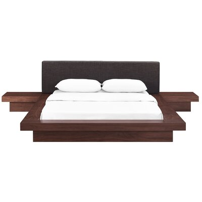 Rennan Queen Platform 3 Piece Bedroom Set Headboard Color: Latte, Frame Finish: Walnut