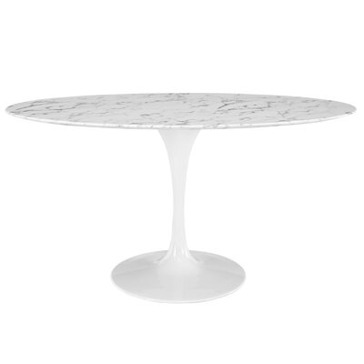 Kylee Artificial Marble Oval-Shaped Dining Table