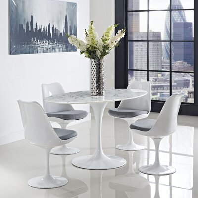 Oval-Shaped Dining Table