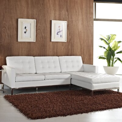 Gayatri Contemporary Leather Sectional