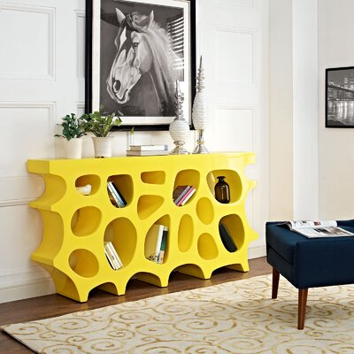 Wander Medium Console Table Color: Yellow