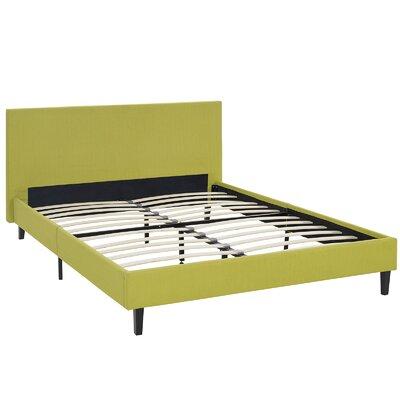 Tafolla Bed Frame Color: Wheatgrass, Size: Queen