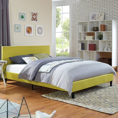 Anya Bed Frame Size: Queen, Color: Wheatgrass