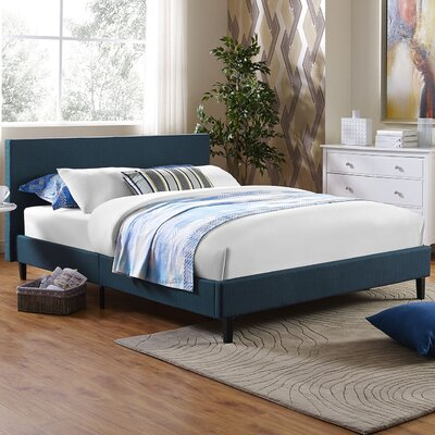 Anya Bed Frame Color: Azure, Size: Queen