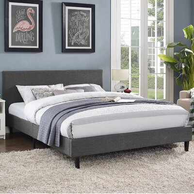 Anya Bed Frame Color: Gray, Size: Twin