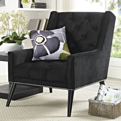 Mcwilliams Armchair Upholstery: Black