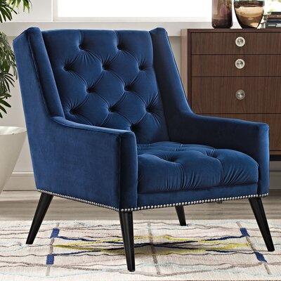 Peruse Velvet Armchair Upholstery: Navy