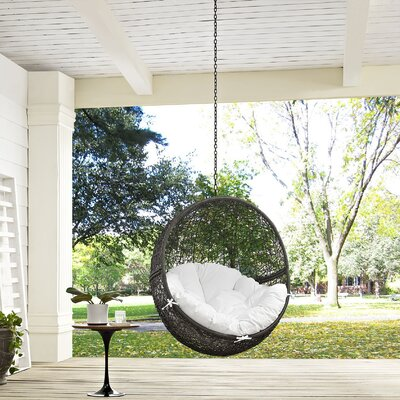 Hide Swing Chair Color: Gray/White