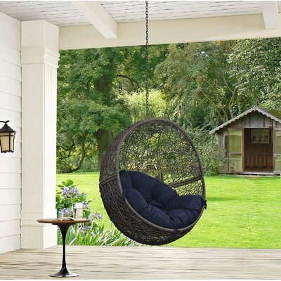 Hide Swing Chair Color: Gray/Navy
