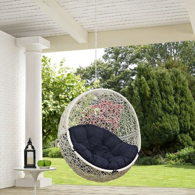 Hide Swing Chair Color: White/Navy