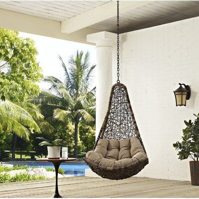 Abate Swing Chair Color: Black/Mocha