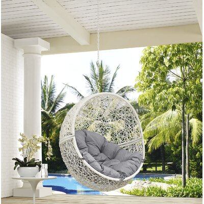 Hide Swing Chair Color: White/Gray