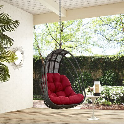 Whisk Swing Chair Color: Red