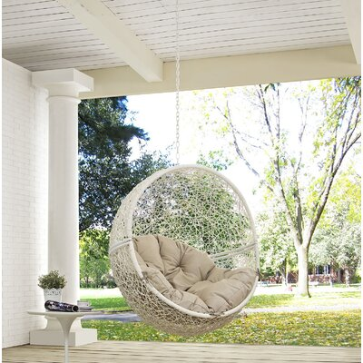 Hide Swing Chair Color: White/Beige