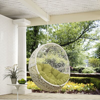 Hide Swing Chair Color: White/Peridot