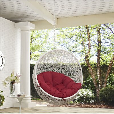 Hide Swing Chair Color: White/Red