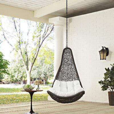 Abate Swing Chair Color: Gray/White