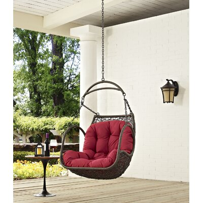 Arbor Swing Chair Color: Red