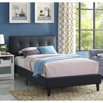 Linnea Twin Platform Bed Color: Black