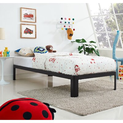Corinne Twin Platform Bed Color: Gray