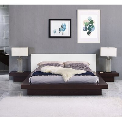 Rennan Queen Platform 3 Piece Bedroom Set Finish: Cappuccino