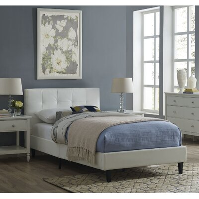 Linnea Twin Platform Bed Color: White