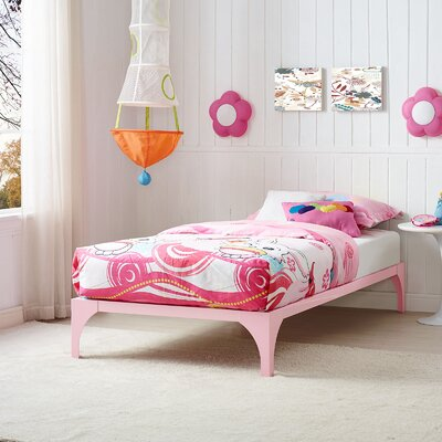Ollie Twin Bed Frame Finish: Pink
