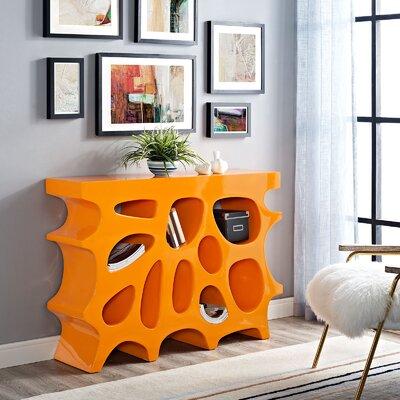 Wander Small Console Table Color: Orange