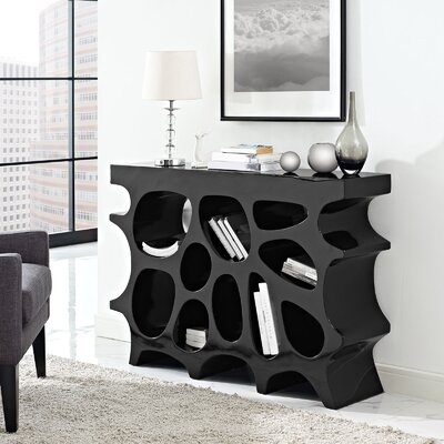 Wander Small Console Table Color: Black