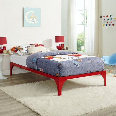 Ollie Twin Bed Frame Finish: Red