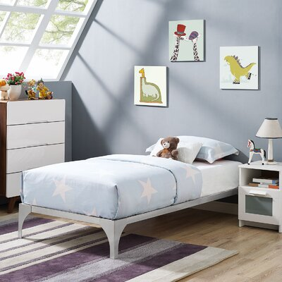 Ollie Twin Bed Frame Finish: Silver