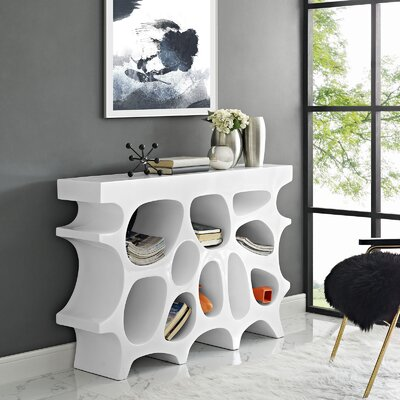 Wander Small Console Table Color: White