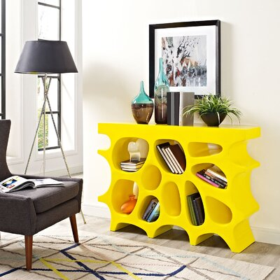 Wander Small Console Table Color: Yellow