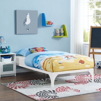 Ollie Twin Bed Frame Finish: White