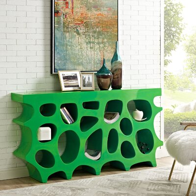Wander Medium Console Table Color: Green