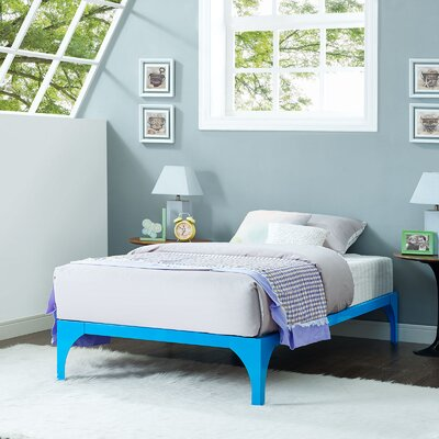 Ollie Twin Bed Frame Finish: Light Blue