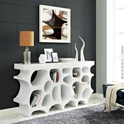 Wander Medium Console Table Color: White